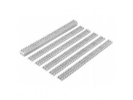 Пластиковые шипы от птиц комплект белые (набор 10 шт - 5 м.)