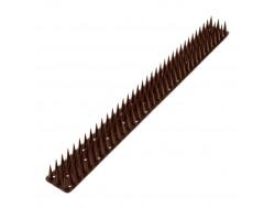 Антиприсадные шипы от птиц пластиковые коричневые (0,5 м)