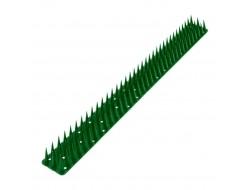 Антиприсадные шипы от птиц пластиковые зеленые (0,5 м)
