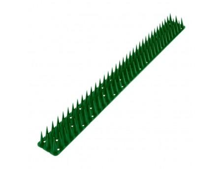 Пластиковые шипы от птиц антиприсадные зеленые (0,5 м)