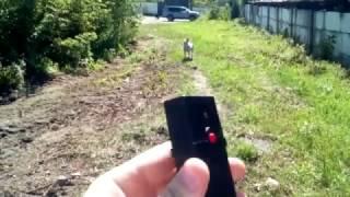 Отпугиватель собак Торнадо 112 в действии